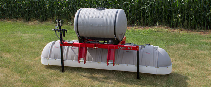 Three-Point Hitch Broadcast Hooded Utility Sprayer